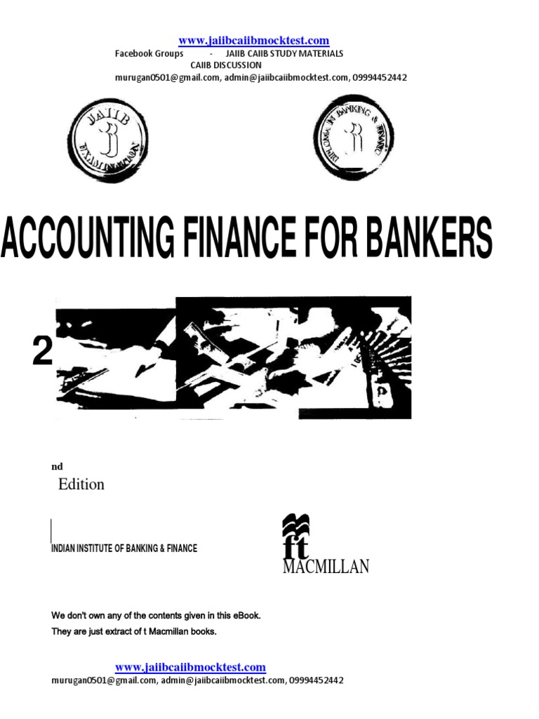 Workbooks jaiib workbook : JAIIB-MACMILLAN eBook-Accounting and Finance for Bankers | Present ...