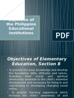 Objective of the Philippine Education Institutions
