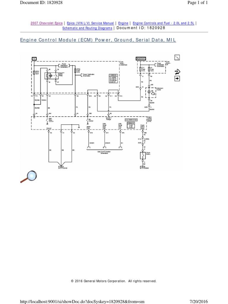 Epica 2.5L 2007 - 2   Throttle   Ignition System   Chevrolet Epica Wiring Diagram      Scribd