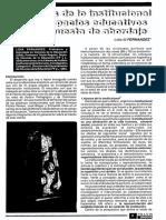 Lidia Fernandez Un Analisis de Lo Institucional