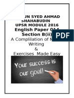UPSR MODULE Based on Textbook 2016