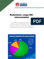 Modal rodoviário cargas interstaduais de Minas Gerais