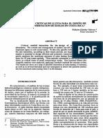 Intensidades Criticas de Lluvia Para El Diseño de Obras de Conservación de Suelos en Costa Rica