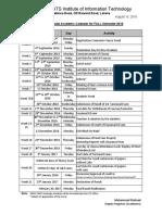 UG Semester Calendar Fall 2016