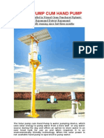 Solar Powered Pump Literature