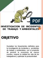 Investigacion Incidentes de Trabajo y Ambientales