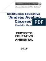 Proyecto Educativo Ambiental A.A.C