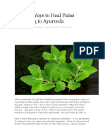 Natural Ways to Heal Pains According to Ayurveda