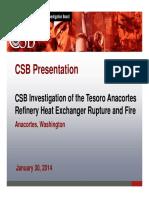 Tesoro Listening Session 2014-Jan-301