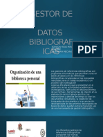 Gestor de Datos Bibliograficas Diapositivas Yesid Peña