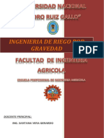 Ingenieria de Riego de Gravedad Informe Final