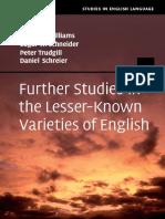 Schneider, Edgar Werner_ Schreier, Daniel_ Trudgill, Peter_ Williams, Jeffrey Payne-Further Studies in the Lesser-known Varieties of English