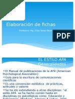 6ta Clase Elaboración de Fichas y de Citas