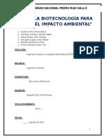 Uso de biotecnología para reducir el impacto ambiental