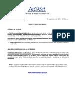 Informe Especial de Meteorología