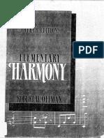 Ottman Elementary Harmony 4th Edition