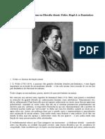 Nacionalismo e Racialismo Na Filosofia Alemã - Fichte, Hegel & Os Românticos