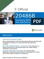 Developing ASP.NET MVC 4 Web Applications - 20486B
