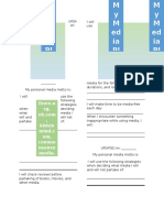 Personal Media Plan Worksheet 2016