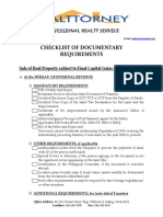 Checklist of Documentary Requirements