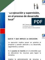 Ejecucion y Supervision en El Desarrollo Local