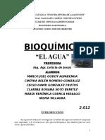 Bioquímica Agua