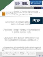 Caracterizacion Del Embarazo Adolescente en Dos Ciudades de Boyaca (1)