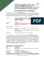 Certificado Perforacion Andean Power