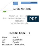 Rheumatoid Arthritis - Case Report