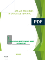 Principles in Teaching