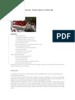 Pastel de Cardamomo Frutos Rojos y Crema Mascarpone