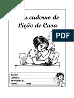 Capa Caderno de Lição de Casa