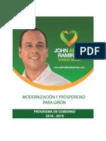 Plan Gobierno John Ramirez