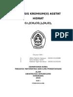 Kromium 2 Asetat Hidrat