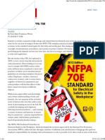 2012 Revisions to NFPA 70E