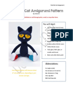 Pete the Cat Amigurumi Pattern