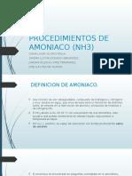 Procedimientos de Amoniaco (Nh3)