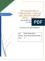 SITUACIÓN DE LA POBLACIÓN  Y SALUD  DEL ADULTO MAYOR  EN EL PERU