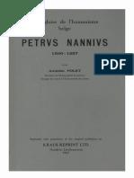 Humanistica Lovaniensia Vol. 5, 1936_Une gloire de l'humanisme belge PETRVS NANNIVS 1500-1557.pdf