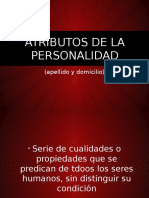 Atributos de La Personalidad - Civil General y Personas