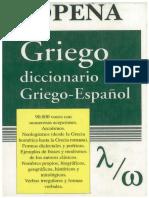 Diccionario Sopena (Tomo II) Griego - Español. Florencio I. Sebastián Yarza.