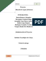 El uso de aguas jabonosas (proyecto)