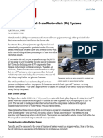 Troubleshooting Small-Scale Photovoltaic (PV) Systems