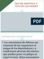 Mecanismo de Defensa y Regulacion de Los Seres