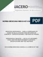 NMX-B-457-CANACERO-2013