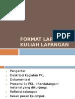Format Laporan Kuliah Lapangan