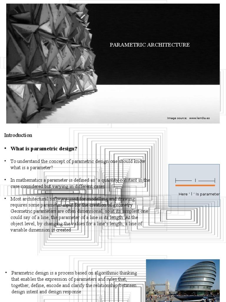 Parametric design technology