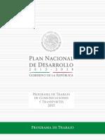 Plan de Trabajo de la SCT 2015