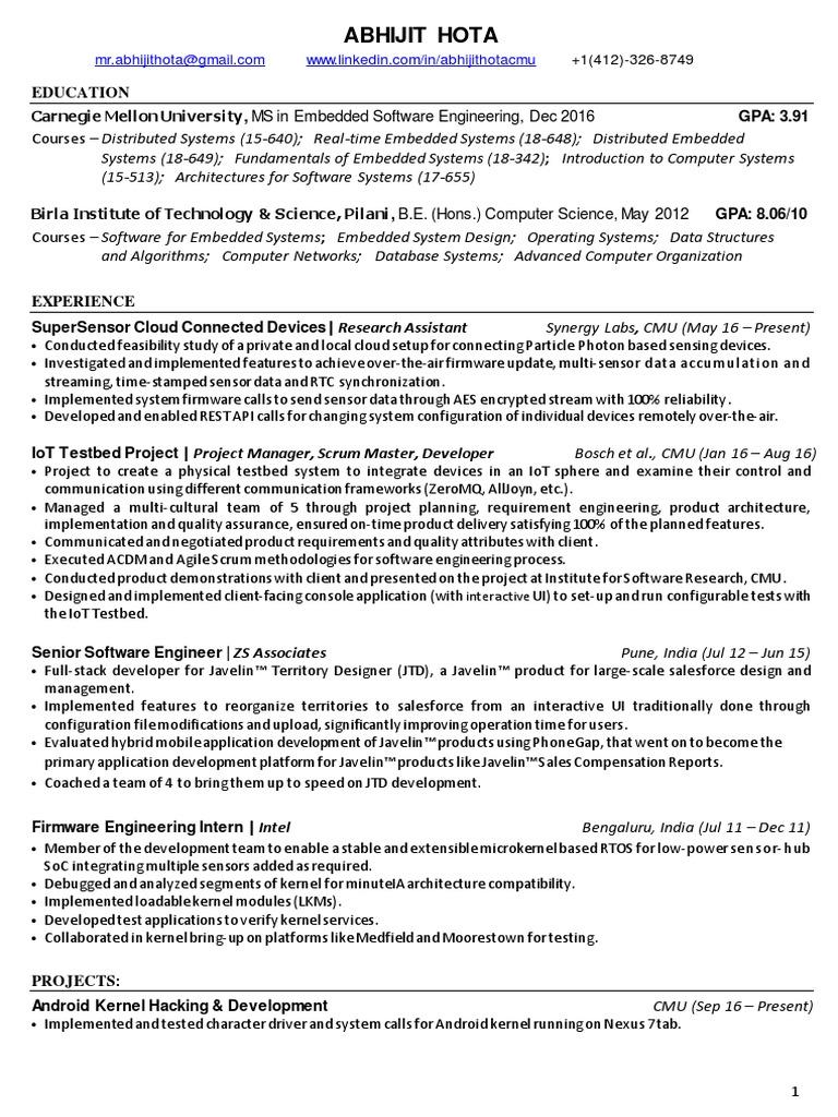AbhijitHota_CMU_resume   Kernel (Operating System