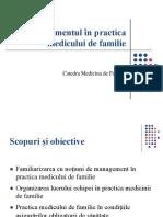Managementul În Practica Medicului de Familie